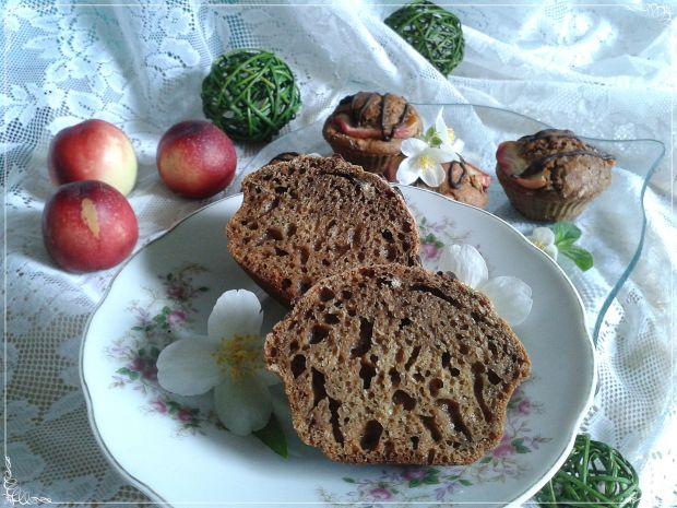 Kawowe muffinki z miętą i nektarynką