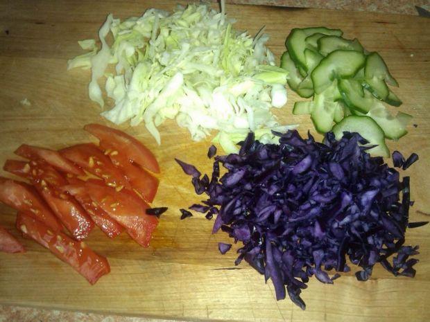 Kebab z warzywami i mięsem