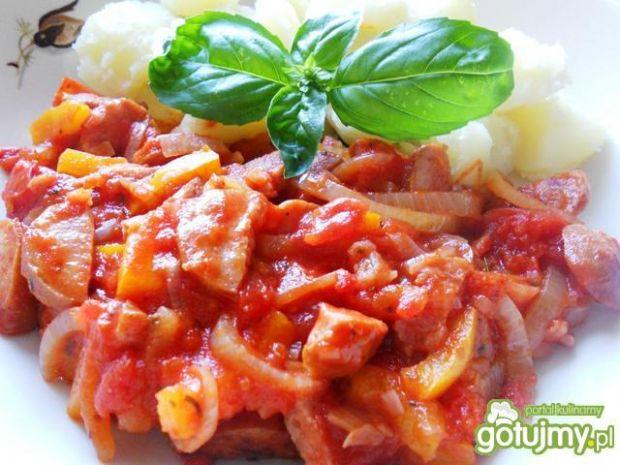 Kiełbasiane danie z włoską nutą