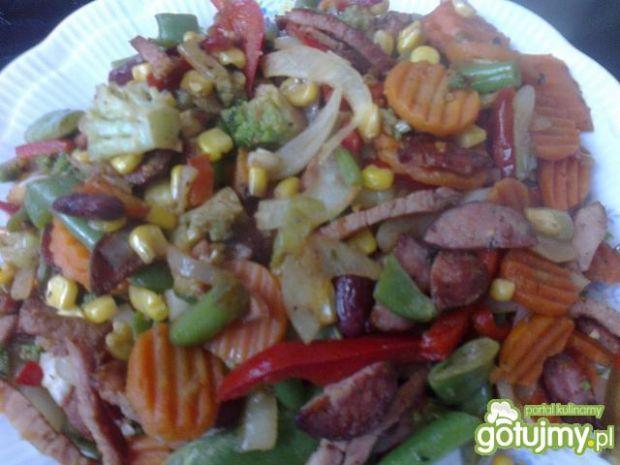 Kiełbasiane warzywa