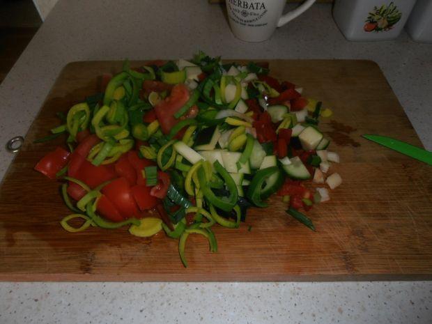 Kiełbaska z warzywami