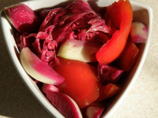 Kiszone warzywa - radicchio, papryka, pomidory