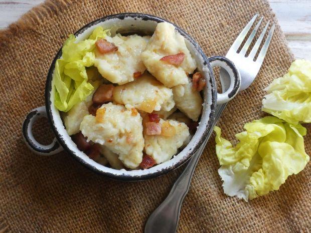 Kluski kładzione z ziemniakami