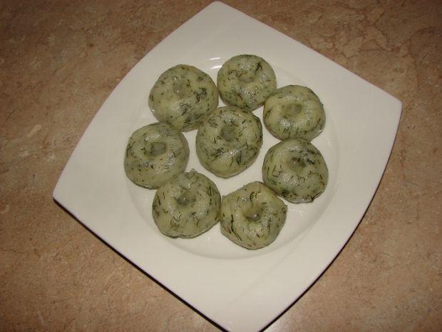 Kluski śląskie na zielono