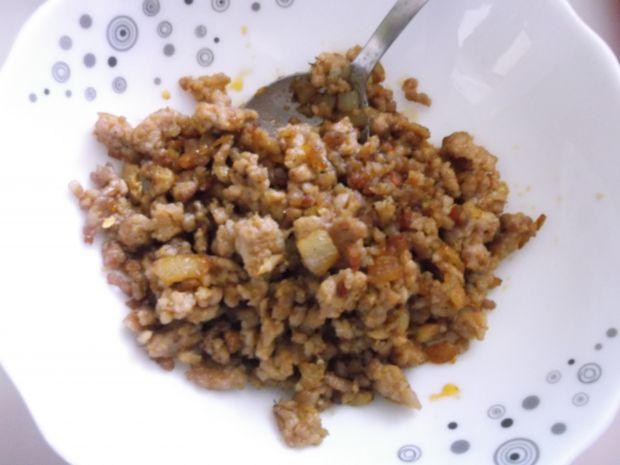 Kluski śląskie z mięsem mielonym i cebulką