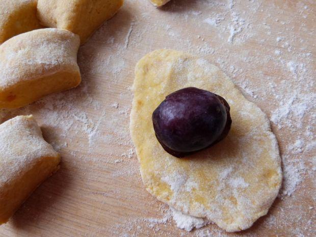 Knedle z ziemniaczano-dyniowego ciasta