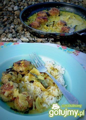 Kokosowe curry z indyka