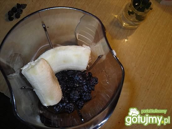 Koktajl banan - jeżyna