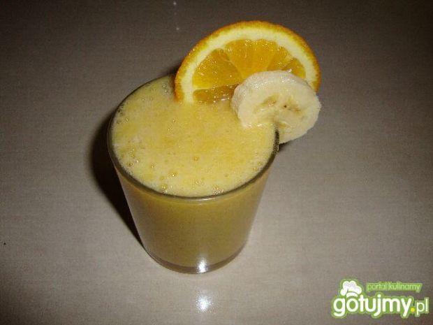Koktajl banan-pomarańcz