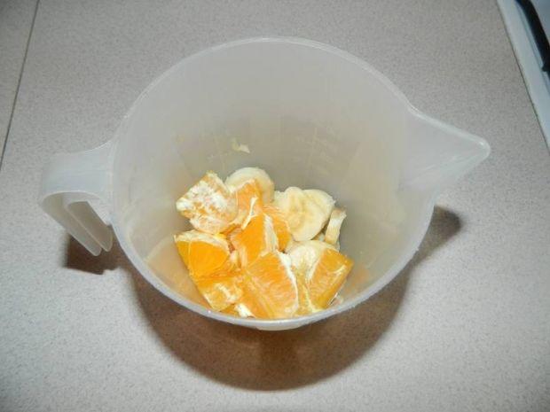 Koktajl bananowo - pomarańczowy z miodem