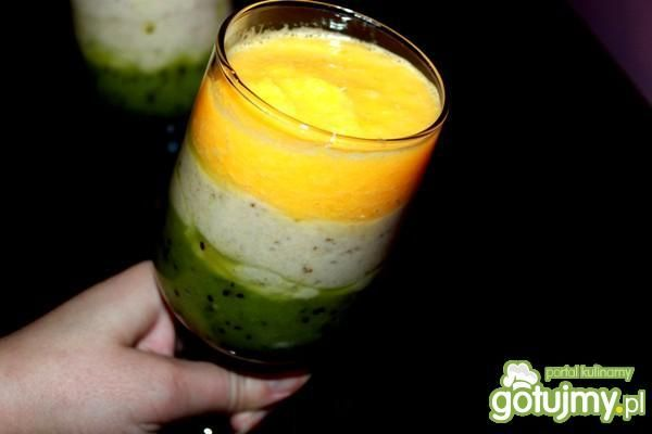 Koktajl kiwi banan pomarańcza