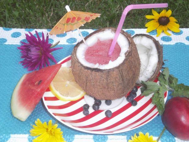 Koktajl kokosowo- arbuzowy z limonką