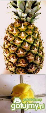 Koktajl  miętowy z ananasem i jabłkiem