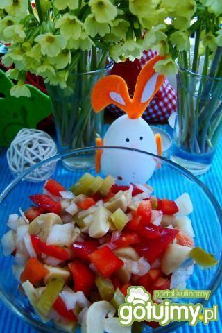 Kolorowa sałatka obiadowa