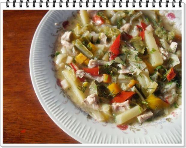 Kolorowa zupa Eli z młodej kapusty