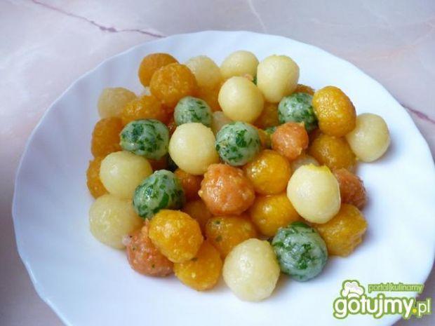 Kolorowe kuleczki z ziemniaków