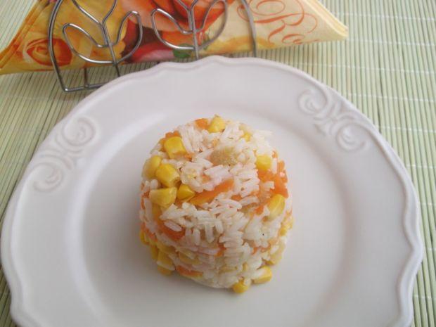 Kolorowy ryż z warzywami