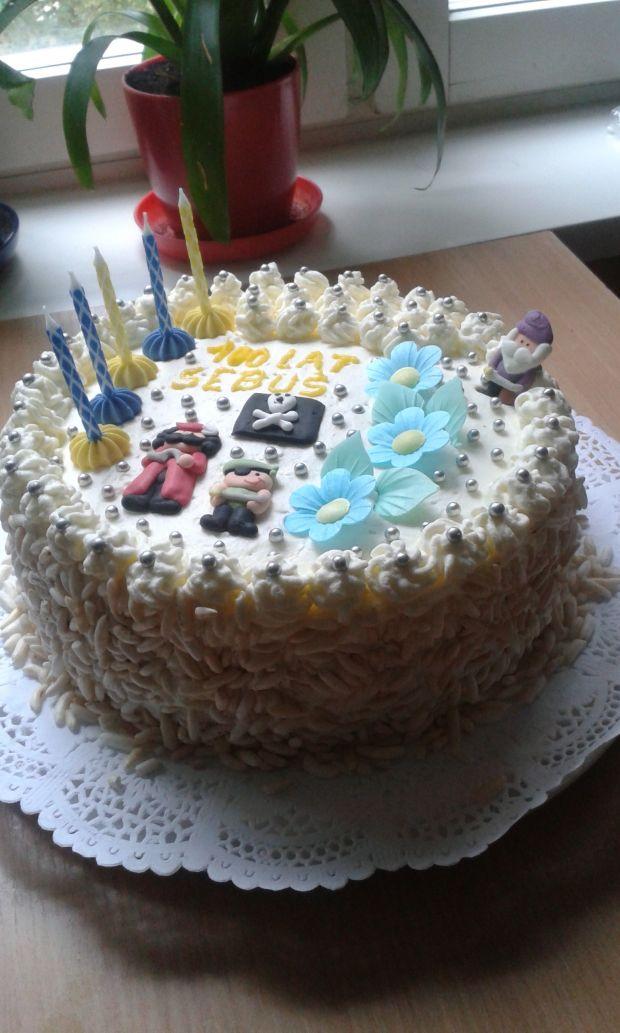 Kolorowy torcik na 5 urodziny