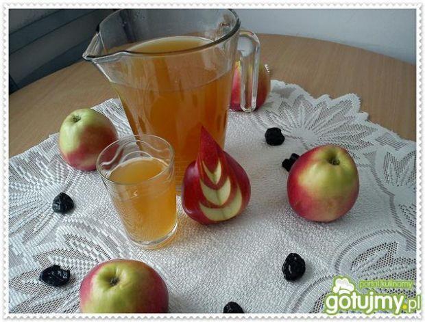 Kompot jabłko-śliwkowy z dżemem brzoskw.