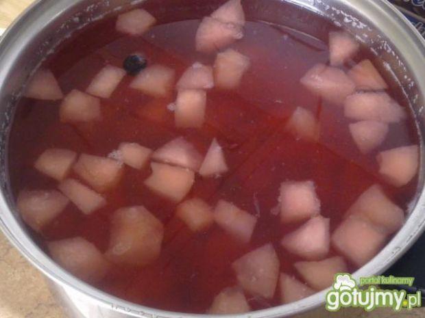 Kompot jabłkowy z aronią