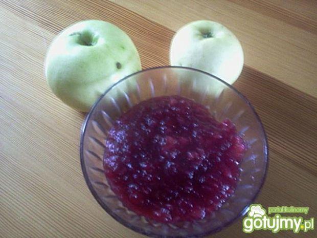 Konfitura jabłkowa z czarnym bzem