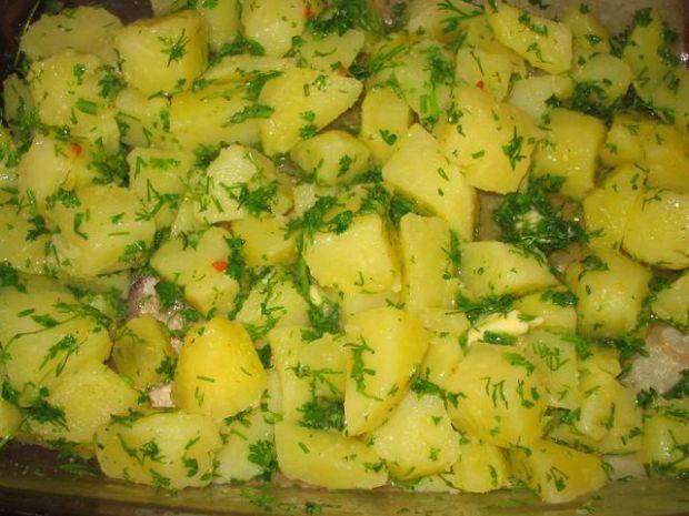 Koperkowo-pietruszkowe ziemniaki
