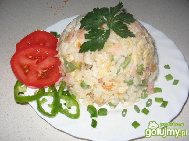 Kopułka ryżowo-warzywno-rybna