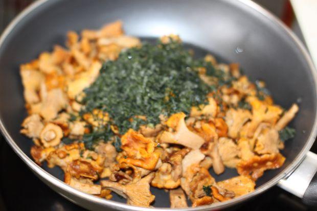 Kopytka w sosie kurkowym