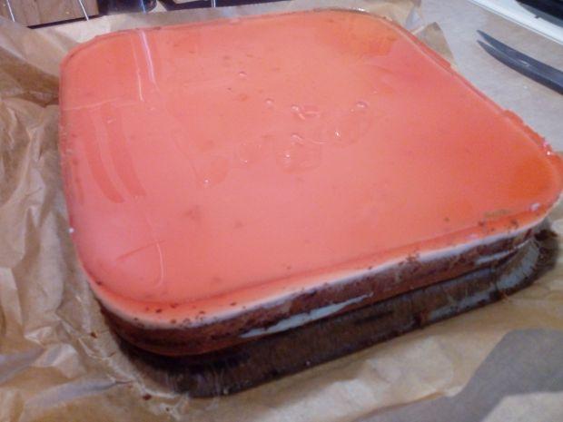 Kostka brzoskwiniowo - truskawkowa