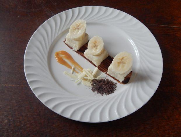 Kostka z kaszy manny z białą czekoladą