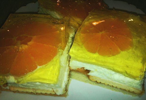 Kostki z pomarańczą i bananem