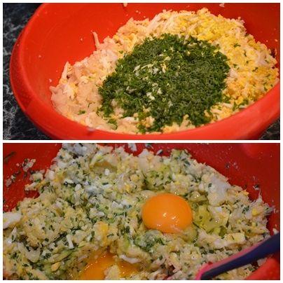 Kotleciki z kalafiora, cukinii i jajek