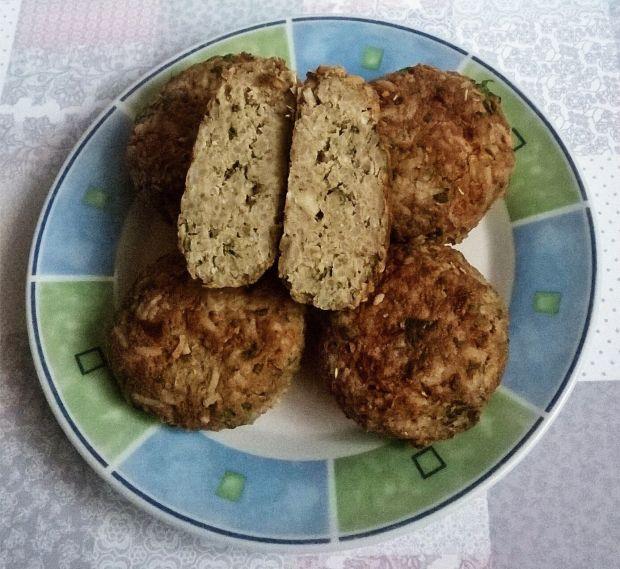 Kotlety mięsno - ryżowe ze szpinakiem