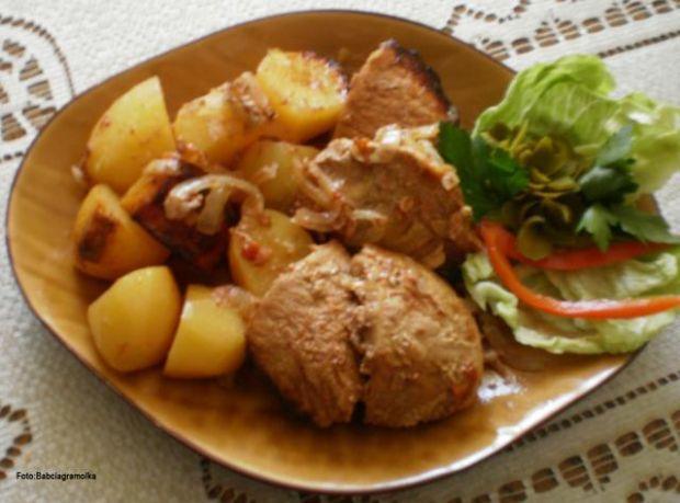 Kotlety schabowe -,,Barbecue z piekarnik
