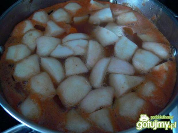 Krem warzywno- pomidorowy z jabłkami