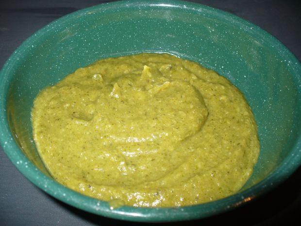 Krem z brokuła,cukinii i zielonego groszku