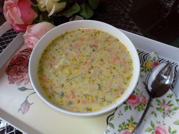 Kremowa zupa ogorkowa (z serkami topionymi)