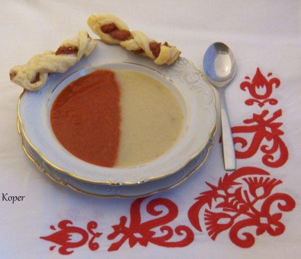 Kremowa zupa z kalafiora i papryki