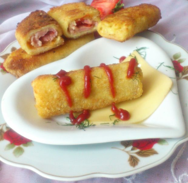Krokiety z chleba tostowego