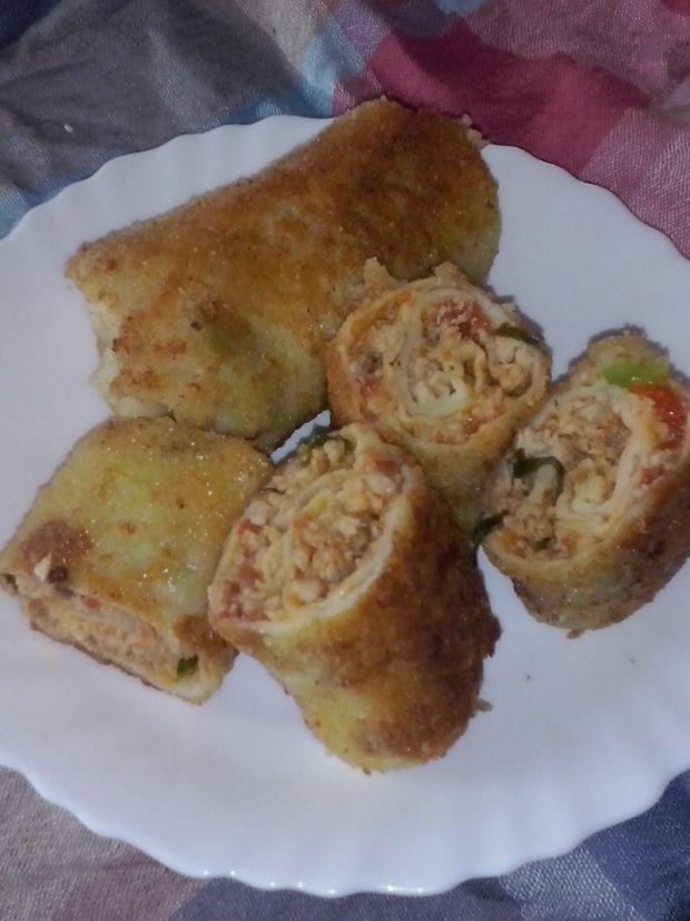 Krokiety z mięsem i warzywami
