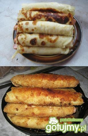 Krokiety z parówkami, serem i wędliną.