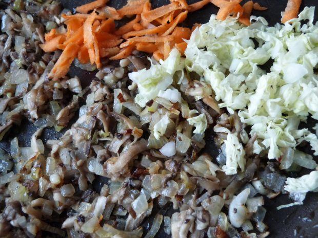 Krokiety z pieczarkami i warzywami