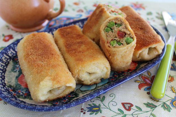 Krokiety z pieczonym kurczakiem i warzywami