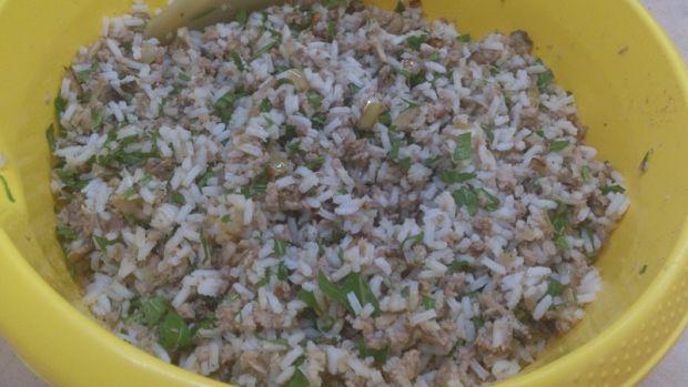 Krokiety z ryżem, mięsem i pieczarkami