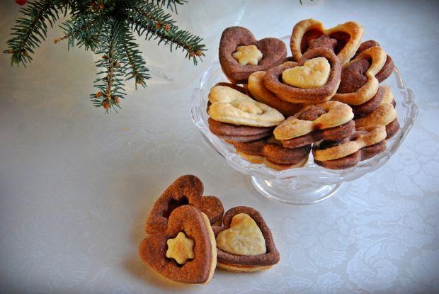 Kruche ciasteczka z kakaową wkładką