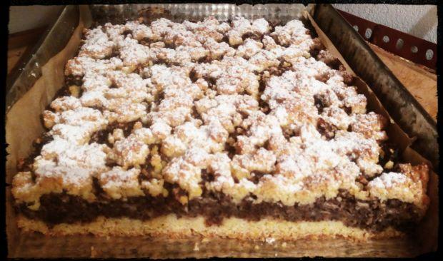 Kruche ciasto z makiem i jabłkami