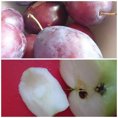 Kruche ciasto z miodem ze śliwkami jabłkiem i bezą