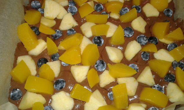 Kruche jabłkowo - borówkowo - brzoskwiniowe