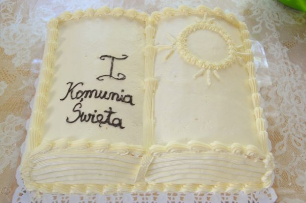 """Księga""-tort komunijny"