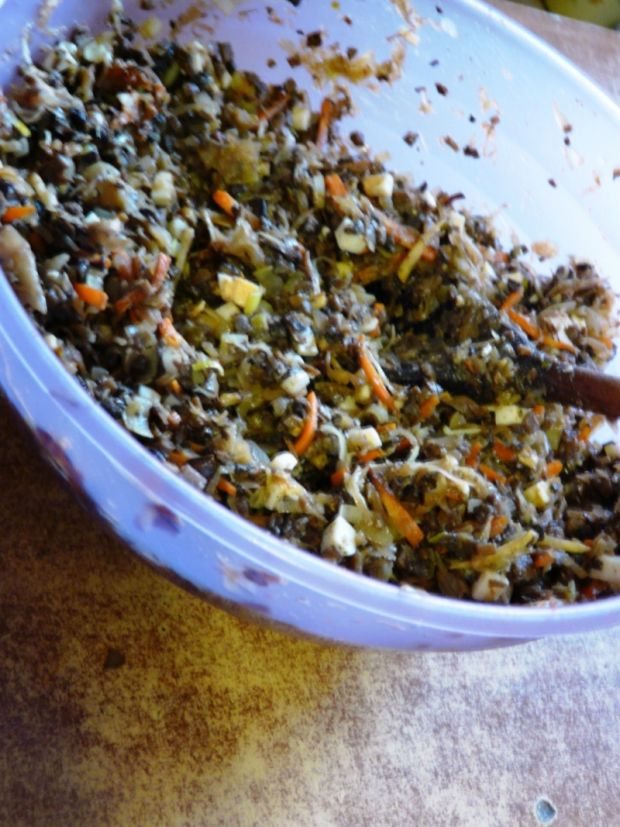 Kulebiak staropolski z kapustą i grzybami